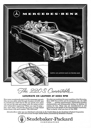 1958 Mercedes Benz 220S Convertible     #100063