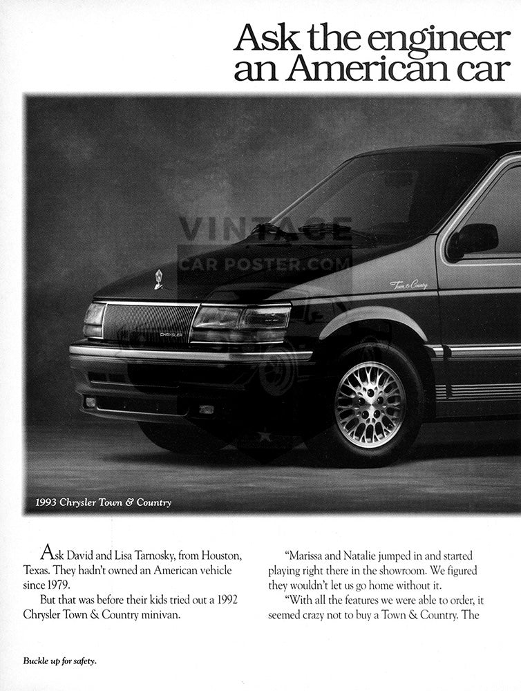 1993 Chrysler Town & Country      #104118