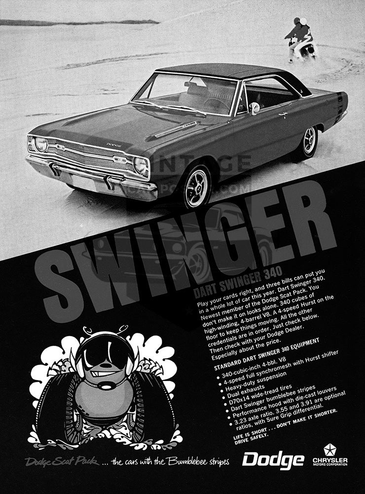 1968 Dodge Dart Swinger 340     #100983