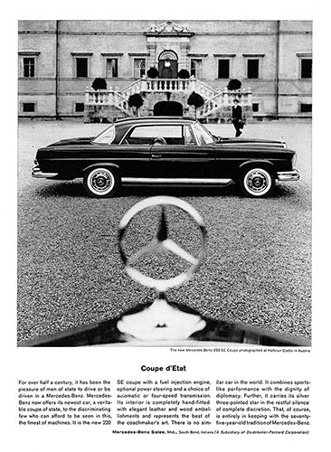1962 Mercedes Benz 220 SE Coupe     #100249
