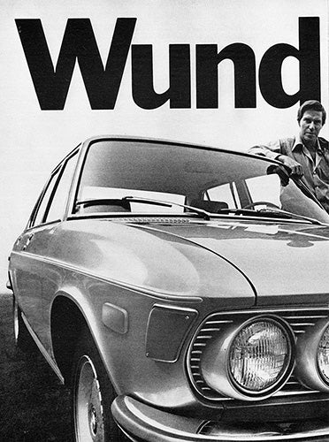 BMW Car Poster, 1971 BMW 2800 , Vintage Ad Wall Art