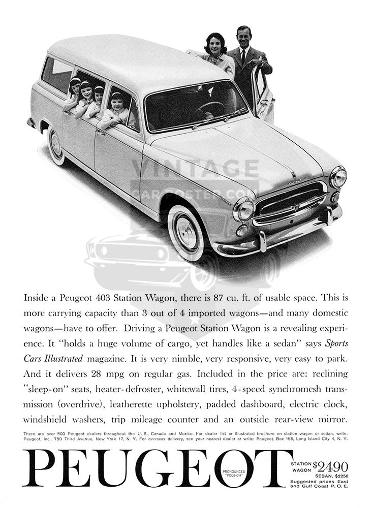 1960 Peugeot 403 Station Wagon     #100166