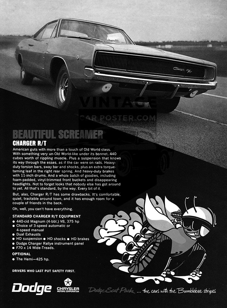 1968 Dodge Charger RT     #100975