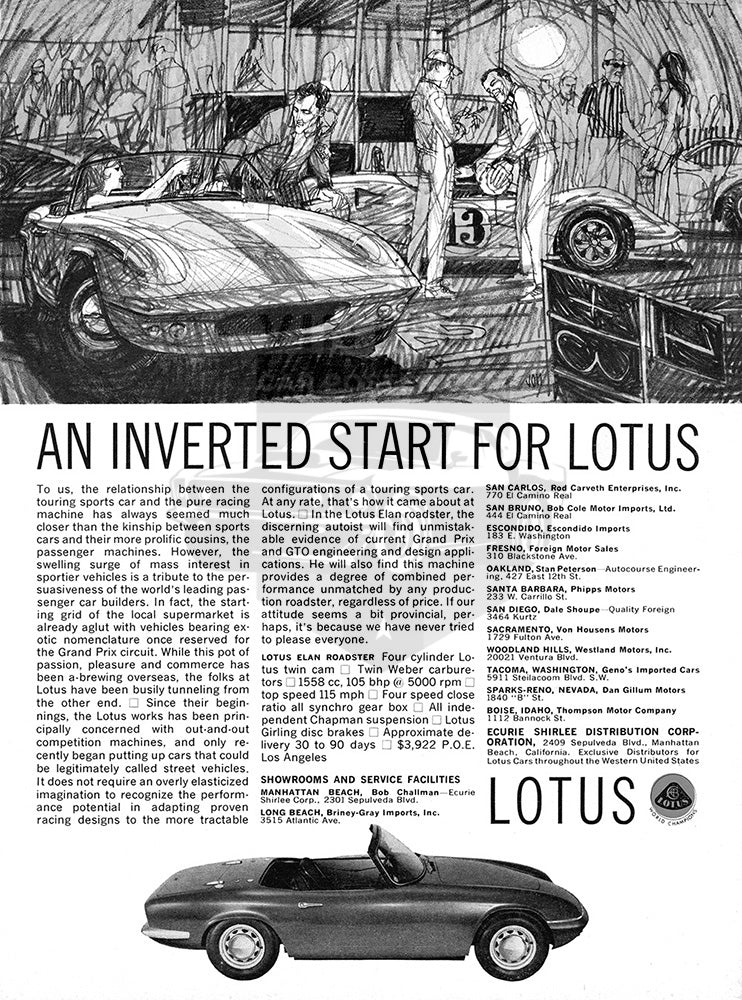 1964 Lotus Elan Roadster     #100484