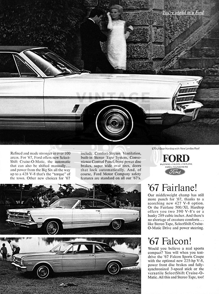 1967 Ford LTD Mustang Hardtop Fairlane Falcon      #100859