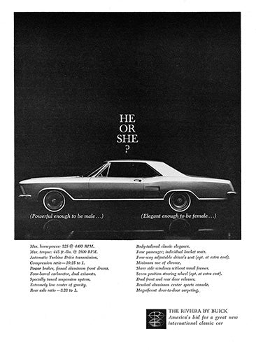 Buick Car Poster, 1963 Buick Riviera, Vintage Ad Wall Art