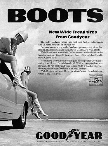 1967 Goodyear Tires Wide Boots Plymouth Barracuda      #100878