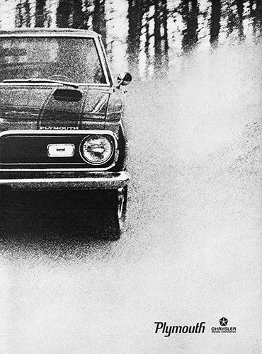 Plymouth Car Poster, 1969 Plymouth Barracuda 340 , Vintage Ad Wall Art