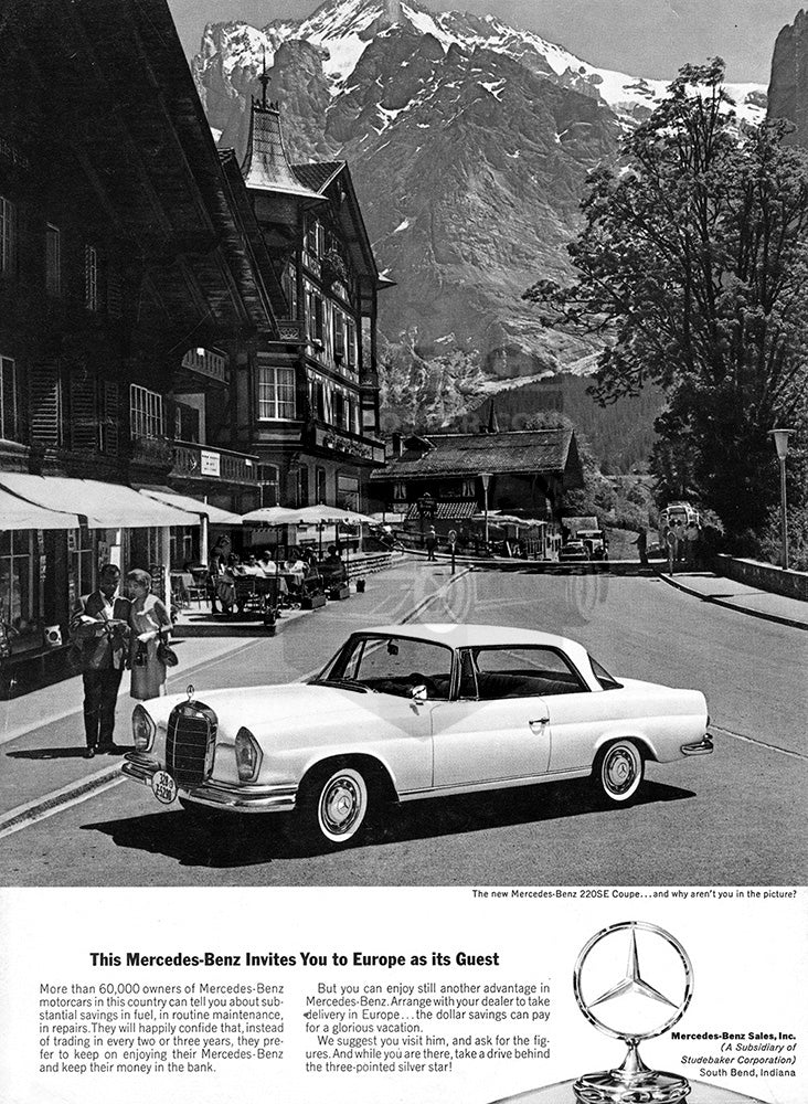 1963 Mercedes Benz 220SE Coupe     #100356