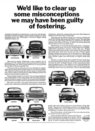 Volvo Car Poster, 1964 Volvo 544 122S 1800S, Vintage Ad Wall Art