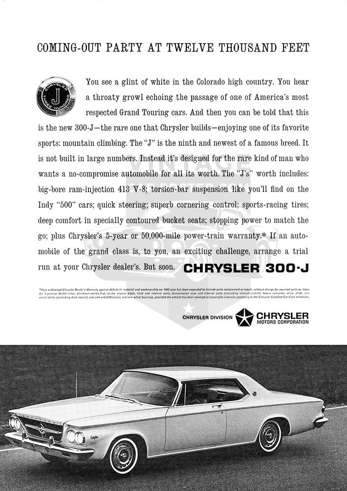 1963 Chrysler 300J     #100303