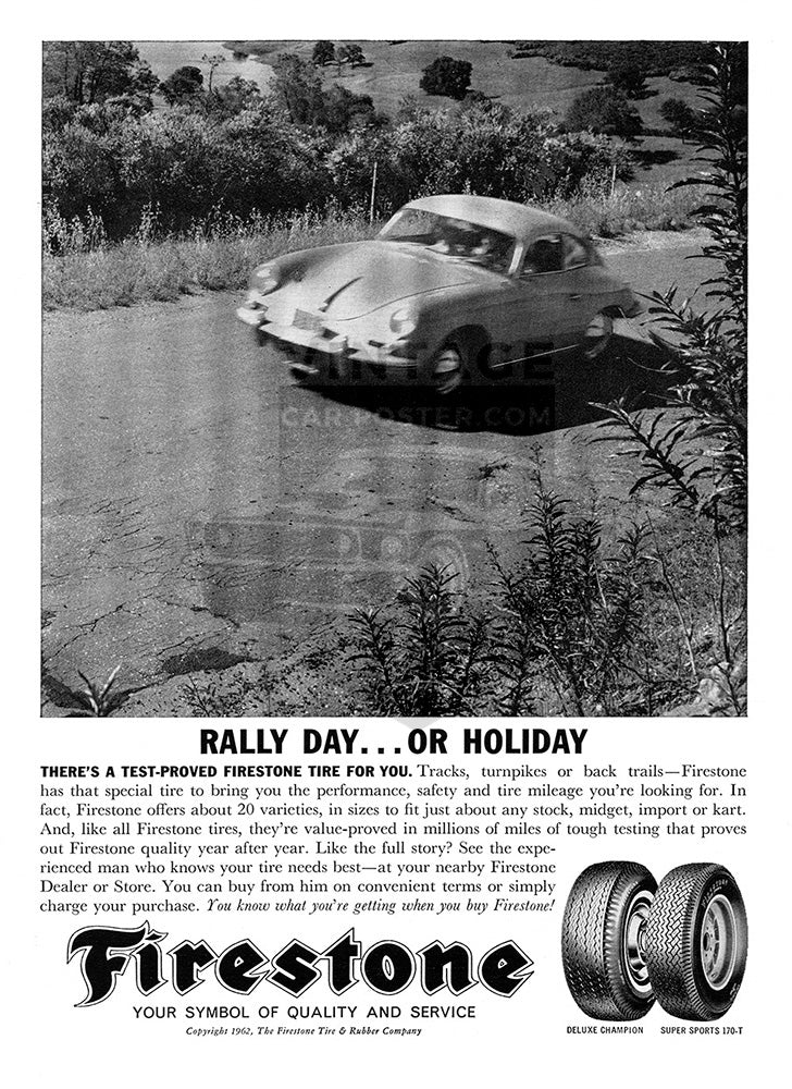 1962 Firestone Tires Porsche 356     #100233