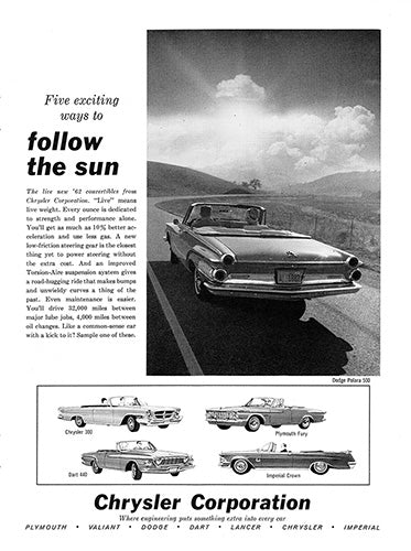 1962 Chrysler Dodge Polara 500     #100223