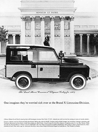 Land Rover Car Poster, 1964 Land Rover Defender, Vintage Ad Wall Art