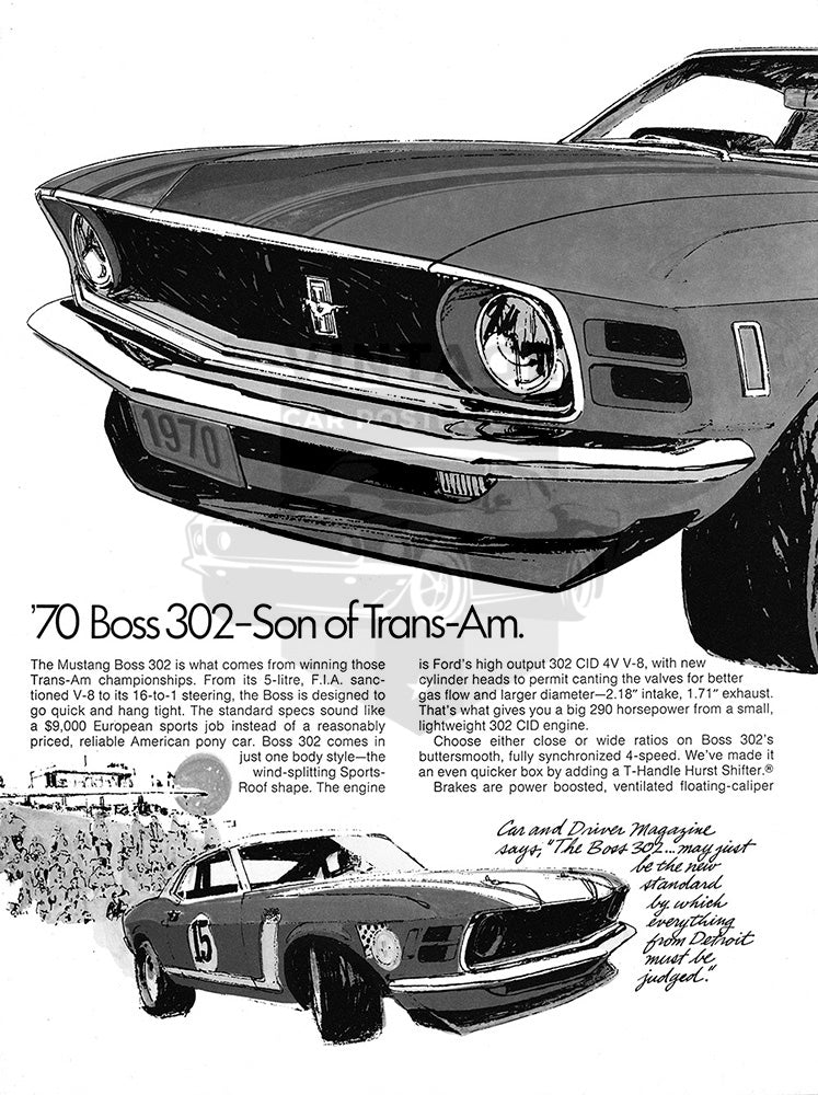 1970 Ford Mustang Boss 302      #101377