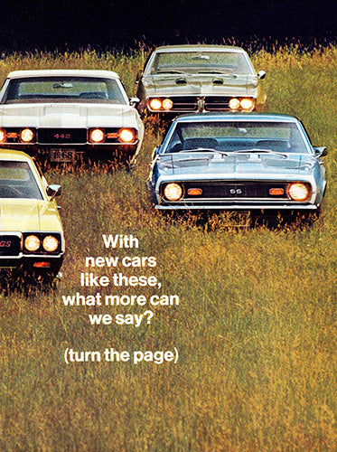 GM Car Poster, 1967 GM Buick GS400 Pontiac GTO Firebird Chevrolet Chev…mobile 442 , Vintage Ad Wall Art