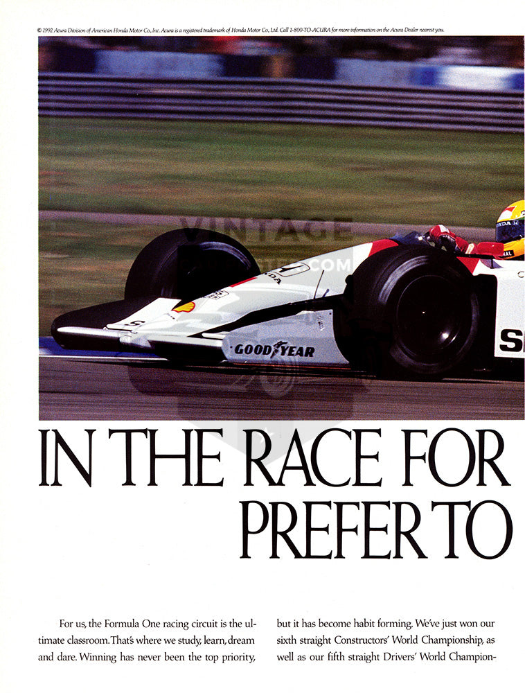 1992 Acura Formula One Racing      #103635
