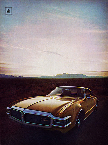 Oldsmobile Car Poster, 1968 Oldsmobile Toronado , Vintage Ad Wall Art