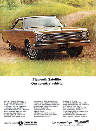 1966 Plymouth Chrysler Satellite     #100807