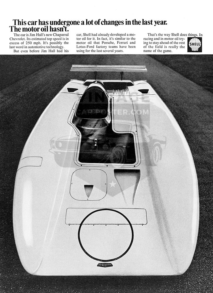 Shell Car Poster, 1969 Shell Gasoline, Vintage Ad Wall Art