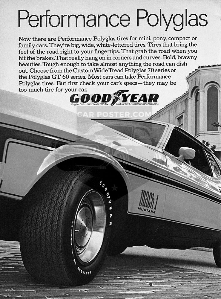 1971 Goodyear Tires Performance Polyglas Ford Mustang Mach 1      #101489