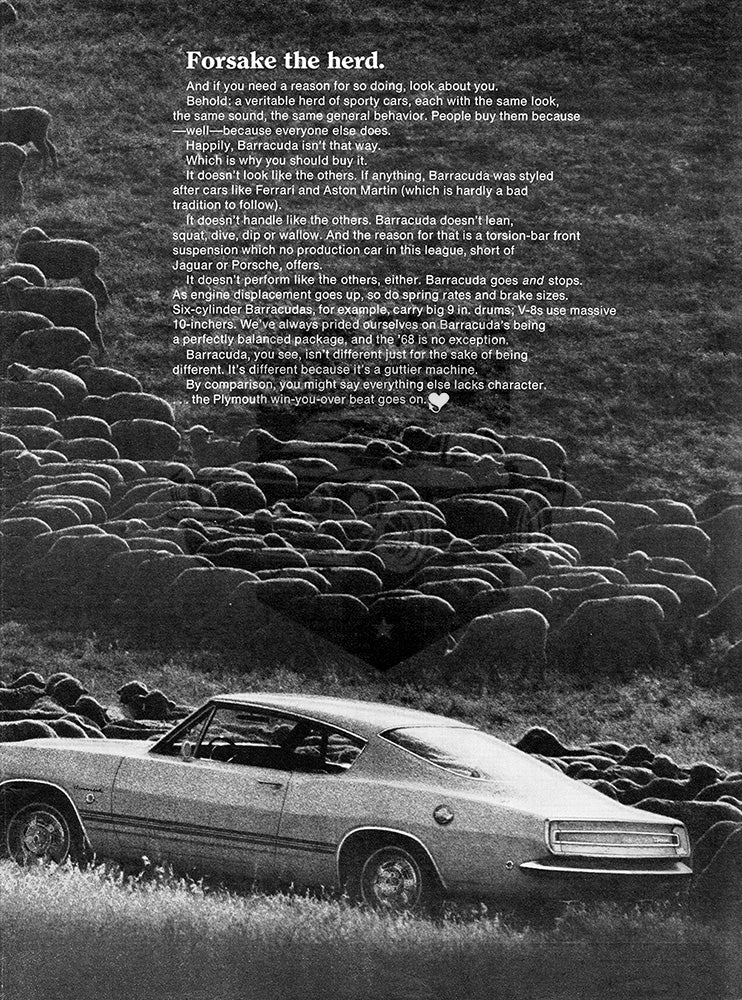 1968 Plymouth Barracuda      #101105