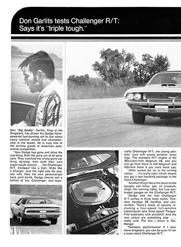 1970 Dodge Challenger RT      #101358