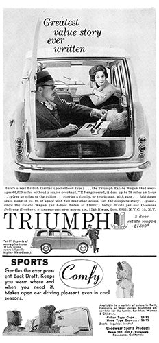 1958 Triumph Estate Wagon     #100078