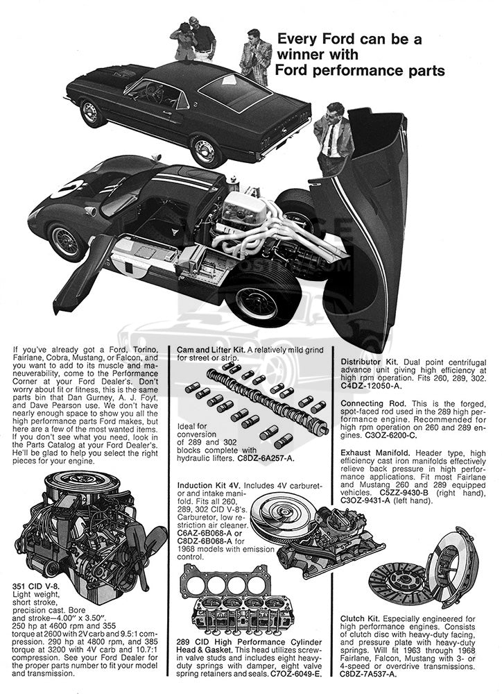 1969 Ford Performance Parts      #101255