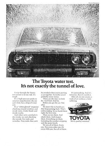 Toyota Car Poster, 1971 Toyota Corolla, Vintage Ad Wall Art
