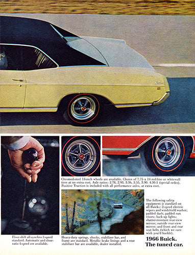 Buick Car Poster, 1966 Buick Skylark GS , Vintage Ad Wall Art