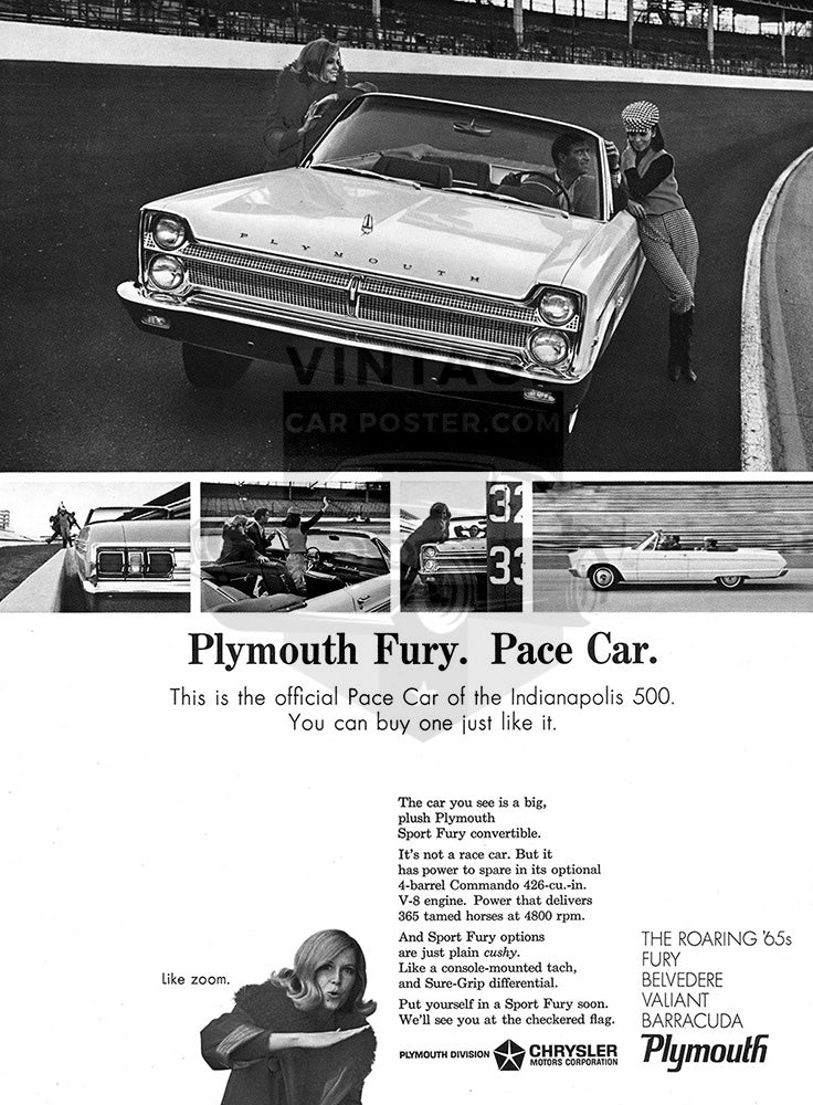 1965 Plymouth Chrysler Fury     #100688