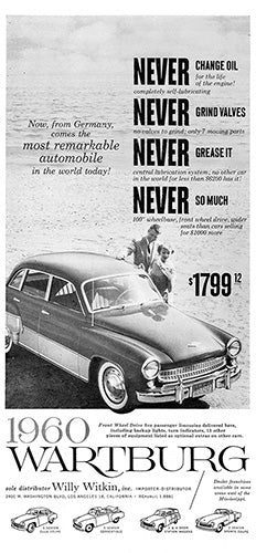1960 Wartburg Sedan     #100203