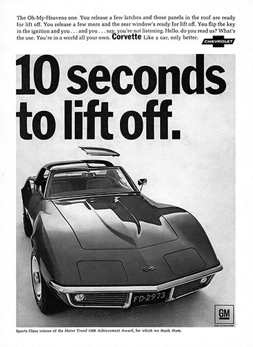 1968 Chevrolet Corvette Stingray     #100958