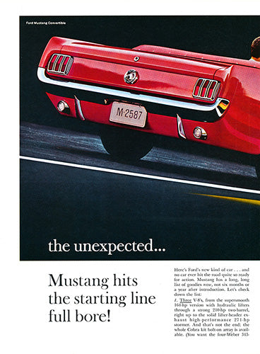 1964 Ford Mustang Convertible      #100468