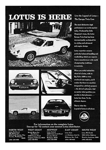 1972 Lotus Europa Twin Cam     #101700