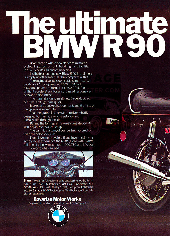 1973 BMW R90S Motorcycle      #101825