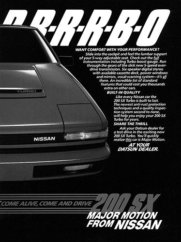 1984 Nissan 200 SX Turbo      #103410