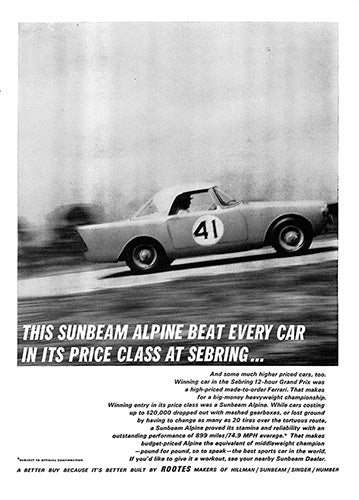 1962 Sunbeam Alpine     #100275