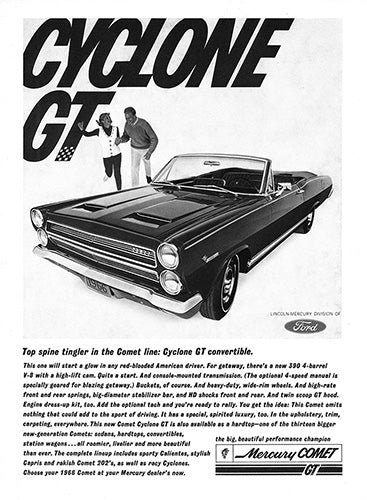 1965 Ford Mercury Comet Cyclone GT Convertible     #100638