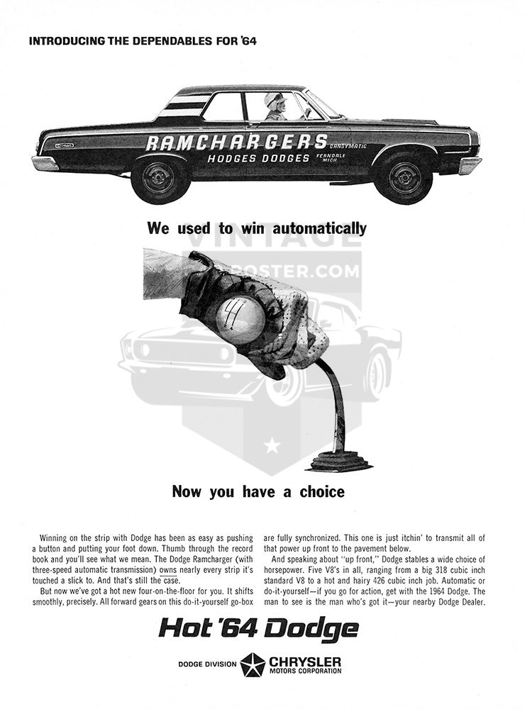 1964 Dodge Ramchargers     #100445