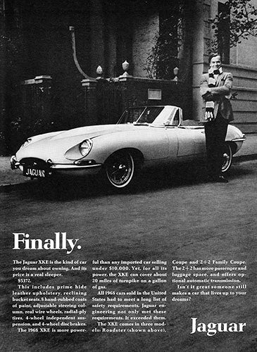 1968 Jaguar XKE Convertible Roadster     #101063