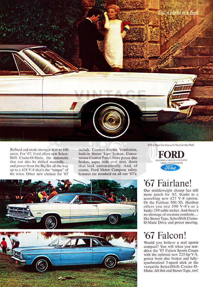 1967 Ford Mustang LTD Fairlane Falcon      #100864