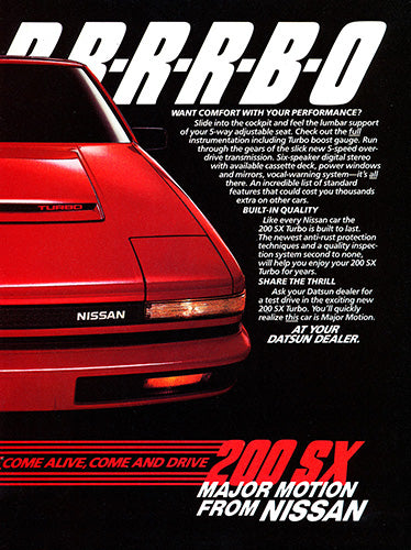 1984 Nissan 200 SX Turbo      #103409