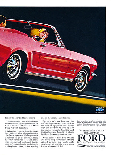 1964 Ford Mustang Convertible      #100470