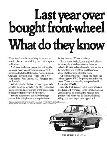 Renault Car Poster, 1971 Renault 12 16 Sedan Wagon , Vintage Ad Wall Art