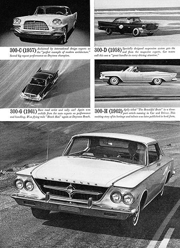 Chrysler Car Poster, 1963 Chrysler 300 J , Vintage Ad Wall Art