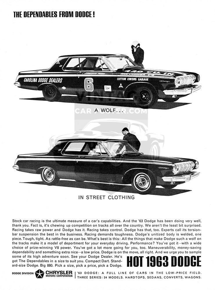 Dodge Car Poster, 1963 Dodge Ramcharger, Vintage Ad Wall Art