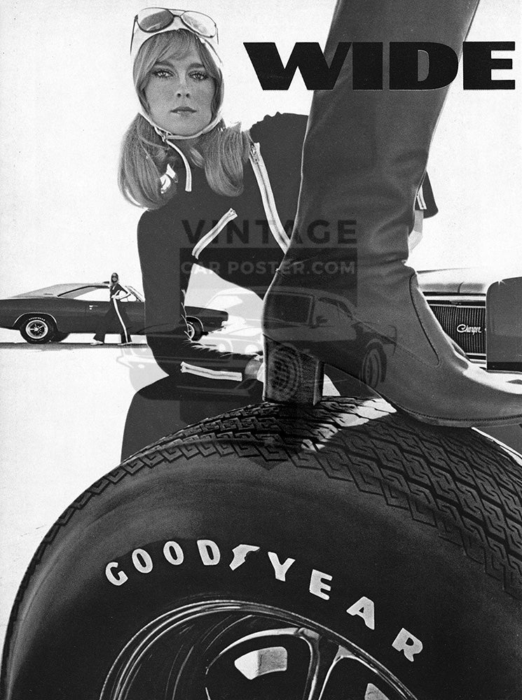 1969 Goodyear Tires Wide Boots GT Dodge Charger Hemi      #101271