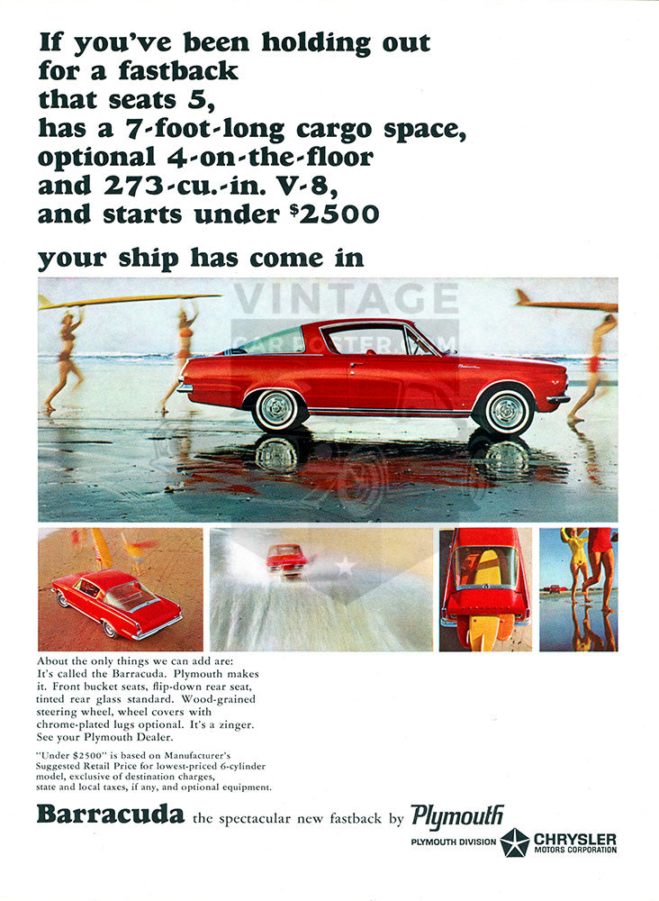 1964 Plymouth Chrysler Barracuda     #100517